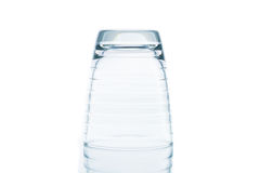 Glass water clear isolate Royalty Free Stock Photos