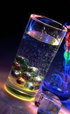 Glass and Water: color and light. Royalty Free Stock Photo