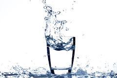 Glass of Water. Glass of Drinking Water On White Background Stock Images