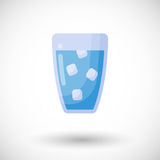 Glass of water  flat icon Stock Images