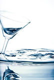 Glass on the water. Stock Photography
