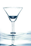 Glass on the water. Royalty Free Stock Image