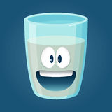 Glass of Water Funny Cartoon Character Royalty Free Stock Photo