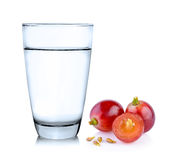 Glass of water and grape Stock Images