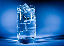 Glass of water with ice Royalty Free Stock Photography
