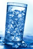Glass of Water with Ice Cubes Stock Photography