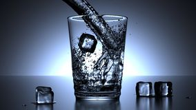 Glass, Water, Ice Cubes, Drink Stock Photos