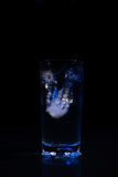 Glass of water with ice Royalty Free Stock Photos