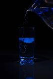 Glass of water with ice Royalty Free Stock Photo