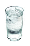 Glass with water and ice isolate on white (clipping path) Royalty Free Stock Image
