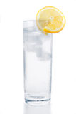 Glass of water, ice and lemon Royalty Free Stock Photos