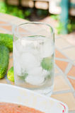 Glass of water with ice Royalty Free Stock Image
