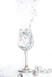 Glass of water and ice Royalty Free Stock Images
