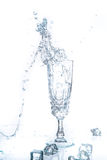 Glass of water and ice Royalty Free Stock Image