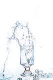 Glass of water and ice Royalty Free Stock Photography