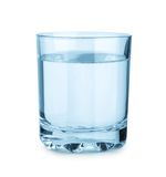 Glass with water isolated Stock Photo