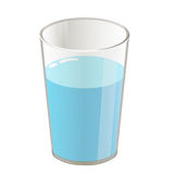 Glass with water isolated illustration. On white background Royalty Free Stock Photos