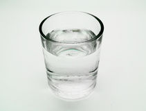 Glass of water on isolated Royalty Free Stock Images