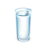 Glass of water isolated on white Royalty Free Stock Photo