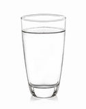 Glass water isolated with white  background Royalty Free Stock Image