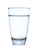 Glass of water isolated. On white background Royalty Free Stock Images