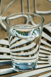 Glass. Water isolated white drink  cup  reflection drinking single liquid crystal aqua nature background closeup abstract art concept, old Royalty Free Stock Photos