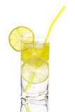 Glass of water with lemon Royalty Free Stock Images