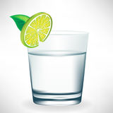 Glass of water with lemon Royalty Free Stock Photo