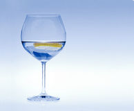 Glass of water with lemon Royalty Free Stock Photography
