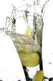 Glass with water and lemon Royalty Free Stock Photos