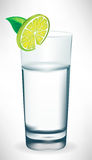 Glass of water with lemon slice Stock Photography