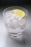 Glass of water (or liquor) wit Royalty Free Stock Photo