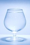 Glass water and little bubbles Royalty Free Stock Photo
