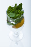 Glass of water with mint Royalty Free Stock Image