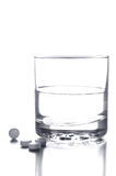 Glass of Water and Pills Royalty Free Stock Photo