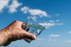 Glass of water. Royalty Free Stock Image