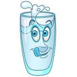 Cartoon water glass Stock Photos