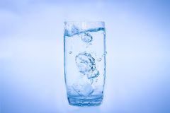 Glass Of Water Splash Royalty Free Stock Photo