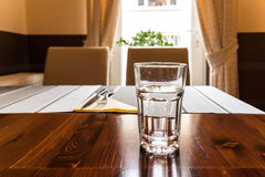Glass Of Water On Table Royalty Free Stock Image