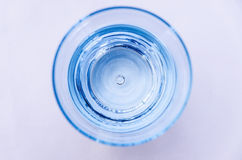 Glass of water top view Royalty Free Stock Image