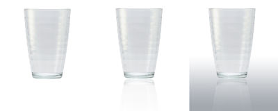 Glass of water. 3 type background Royalty Free Stock Photo