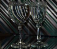Glass with water stock images