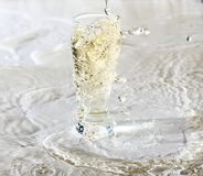 Glass Of Water on white Stock Photography