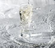 Glass Of Water on white Royalty Free Stock Photo
