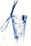 Glass of water on white Stock Images