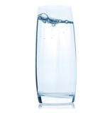 Glass with water on white background Royalty Free Stock Image