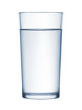 Glass of water. On white background Royalty Free Stock Image