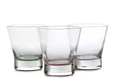 Glass of water on white. Background Stock Image