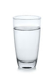 Glass of water on white background. Glass of water on a white background Royalty Free Stock Photography