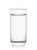 Glass of water on white background Stock Photo